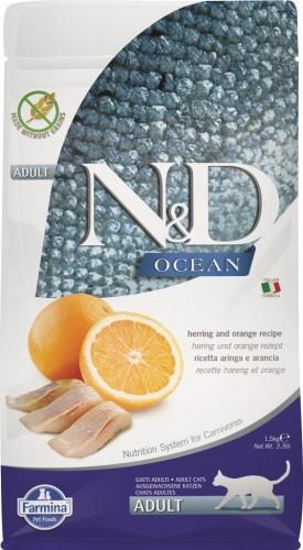 N&D Ocean Cat Herring and Orange Adult